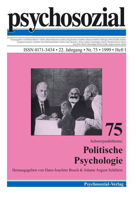 psychosozial 75: Politische Psychologie als Buc...