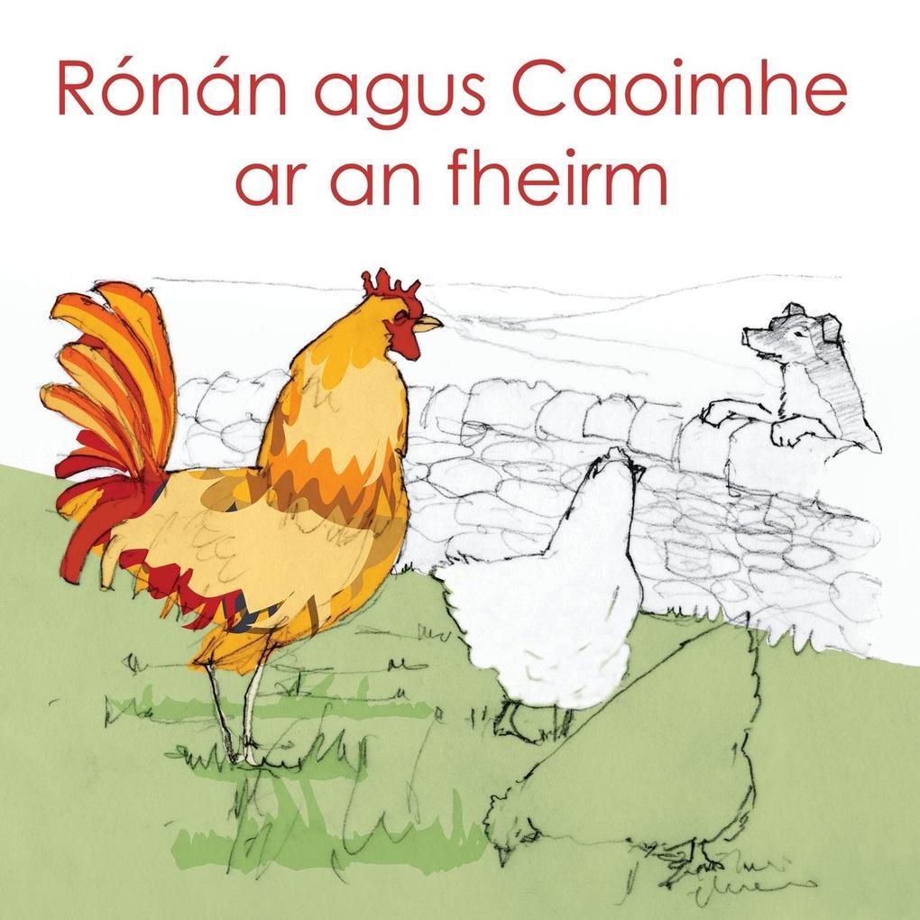 Ronan agus Caoimhe ar an fheirm als Buch