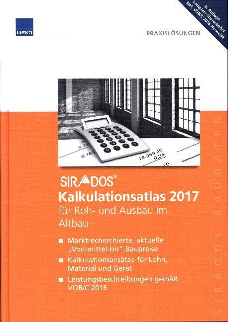 SIRADOS Kalkulationsatlas 2017 für Roh- und Aus...