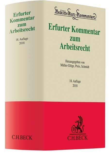 Erfurter Kommentar zum Arbeitsrecht als Buch vo...