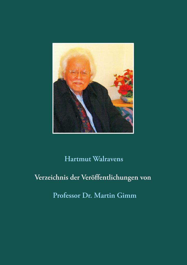 Verzeichnis der Veröffentlichungen von Prof. Dr...