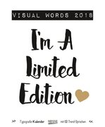 Visual Words 2018. Typo Art Kalender