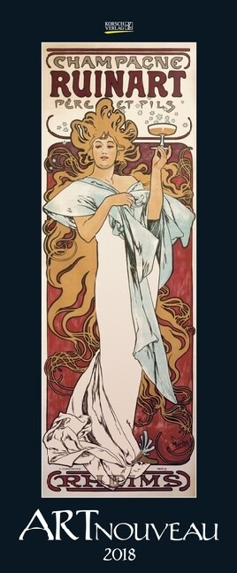 Art Nouveau 2018. Kunst Vertikal Kalender
