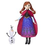 Hasbro B9200ES0 - Disney Frozen, Die Eiskönigin, Zauber der Polarlichter Anna und Olaf, Puppe, Figur