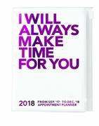 MARK'S 2018 Taschenkalender A6 vertikal, MAKE TIME // Pink