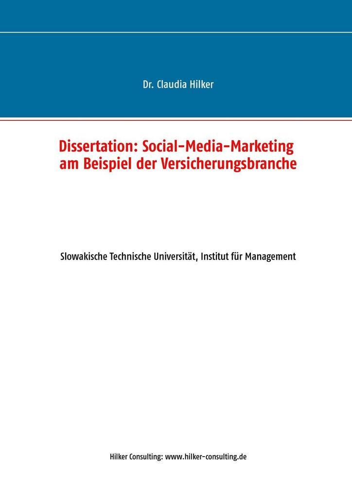 Social-Media-Marketing am Beispiel der Versiche...