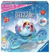 Ravensburger Puzzle - 3D puzzleball - Prinzessinnen Kutsche, 72 Teile