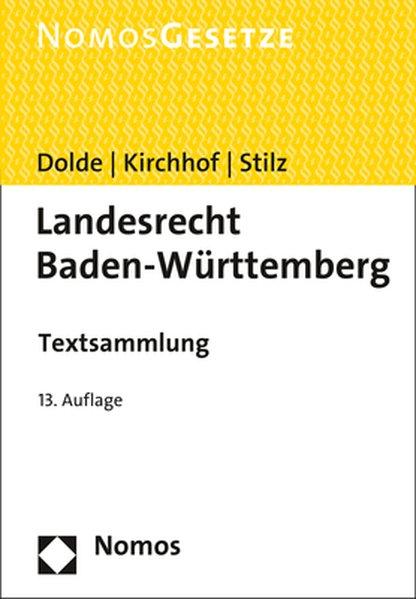 Landesrecht Baden-Württemberg als Buch von