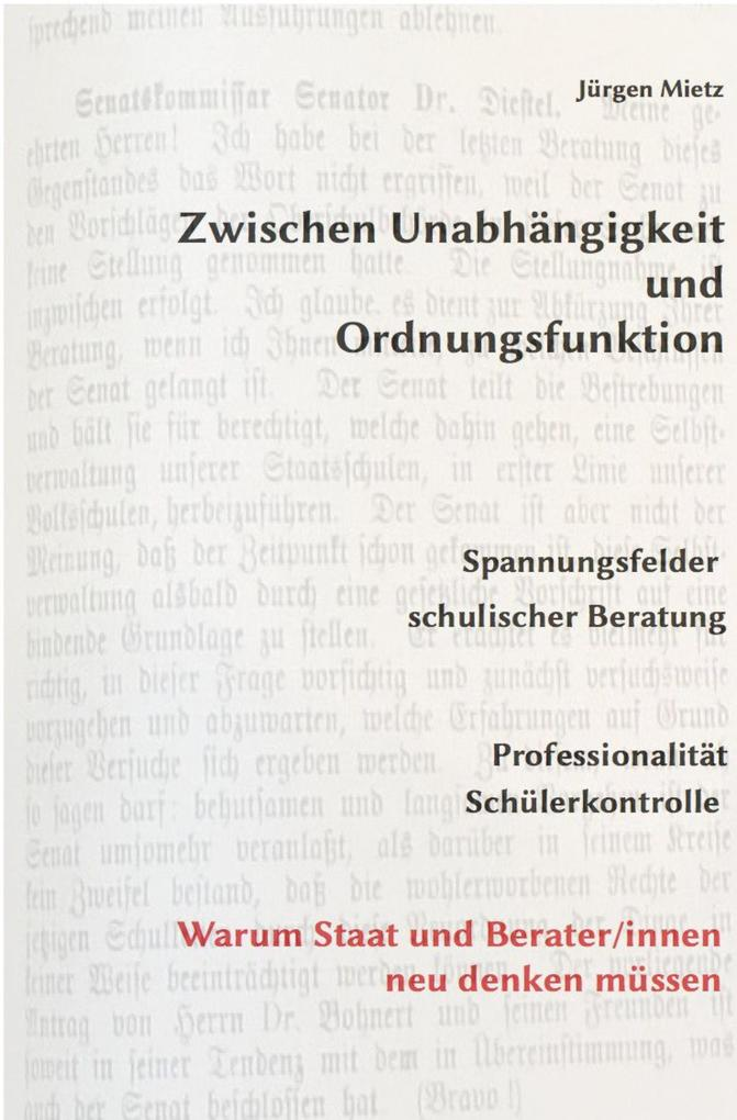 Zwischen Unabhängigkeit und Ordnungsfunktion als eBook