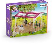 Schleich 42389 - Reitschule mit Reiterinnen und Pferden