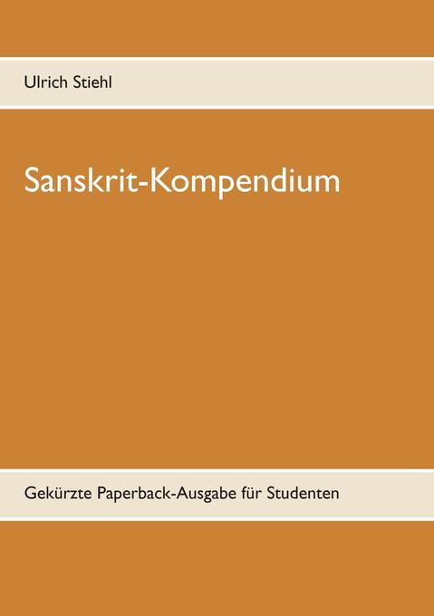 Sanskrit-Kompendium als Buch (kartoniert)