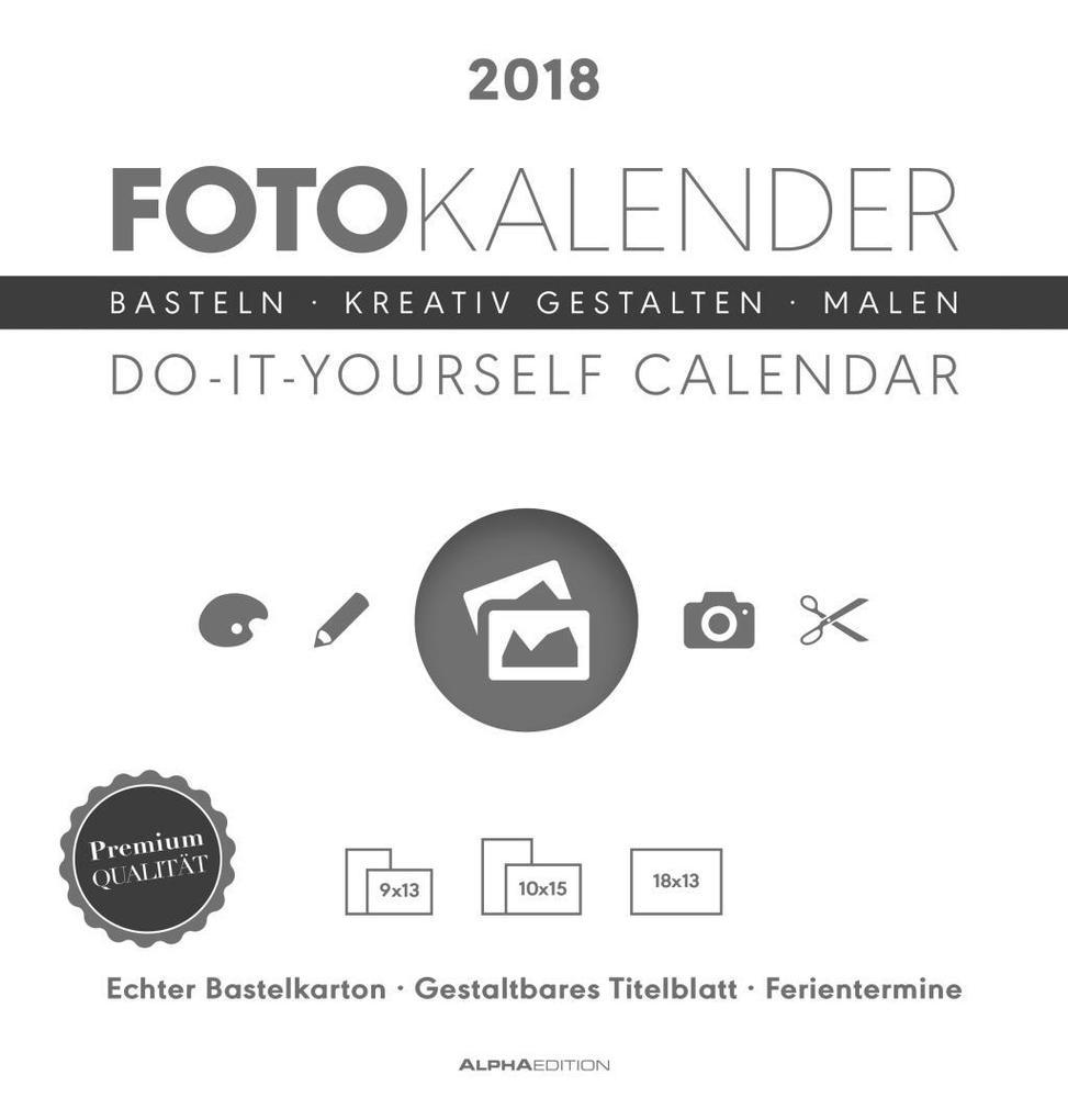 Foto-Bastelkalender 2018 weiß datiert als Kalender