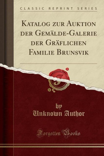 Katalog zur Auktion der Gemälde-Galerie der Grä...