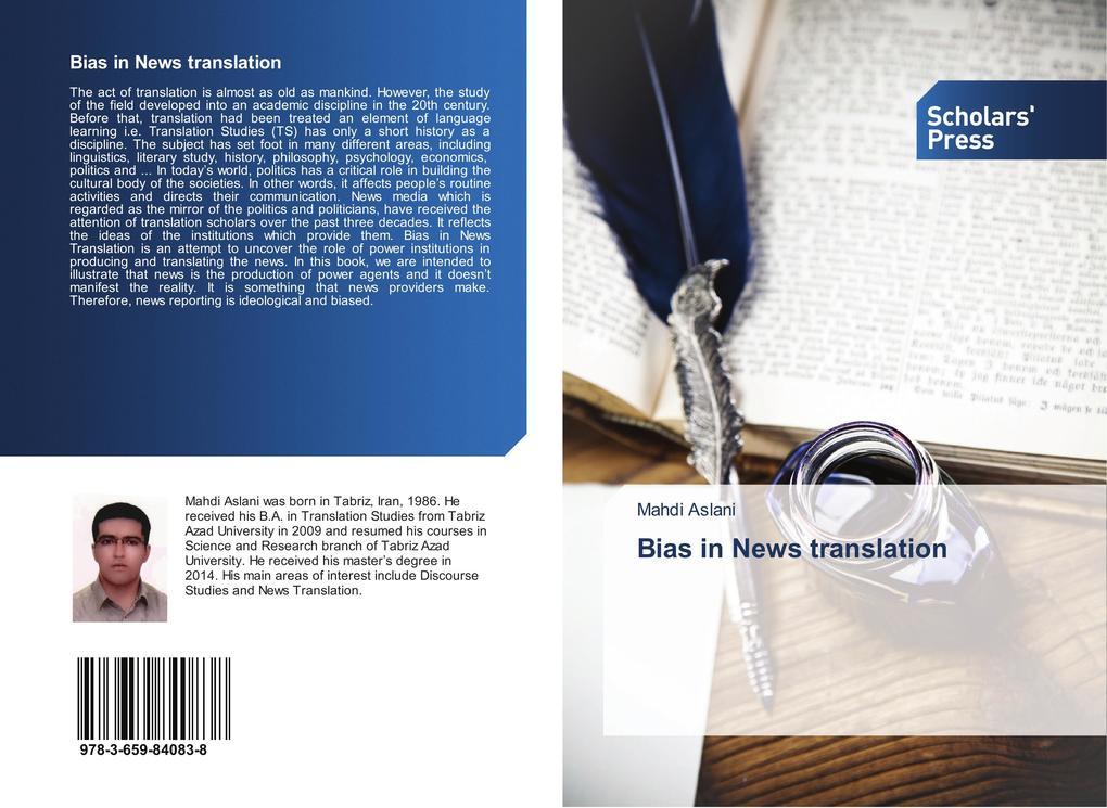 Bias in News translation als Buch von Mahdi Aslani