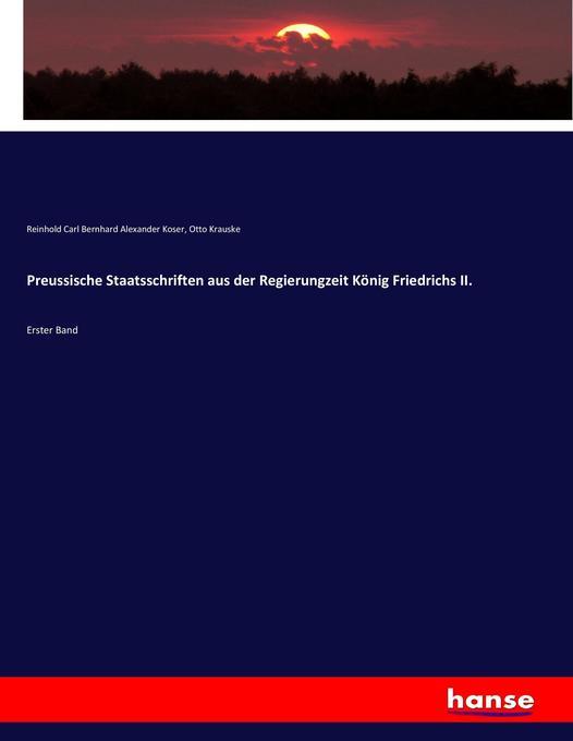Preussische Staatsschriften aus der Regierungze...