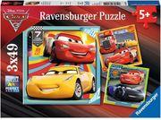 Disney Cars: Bunte Flitzer. Puzzle 3 x 49 Teile