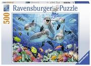 Delfine im Korallenriff. Puzzle 500 Teile