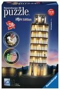 Ravensburger Spiel - 3D Puzzles - Schiefer Turm von Pisa bei Nacht 216 Teile