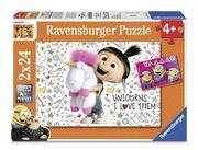 Agnes und die Minions. Puzzle 2 x 24 Teile