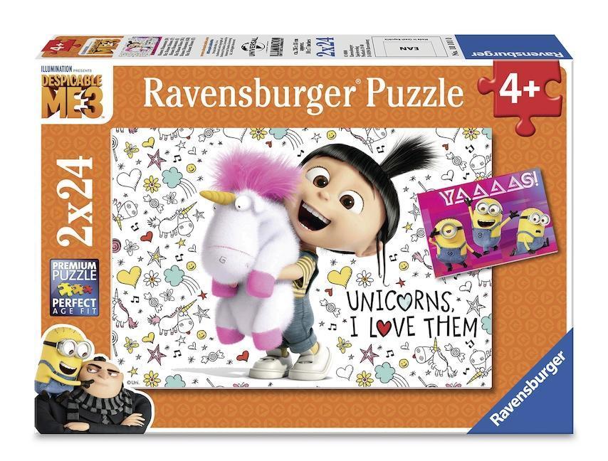 Agnes und die Minions. Puzzle 2 x 24 Teile als sonstige Artikel