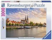 Regensburg, Blick auf die Altstadt. Puzzle 1008 Teile