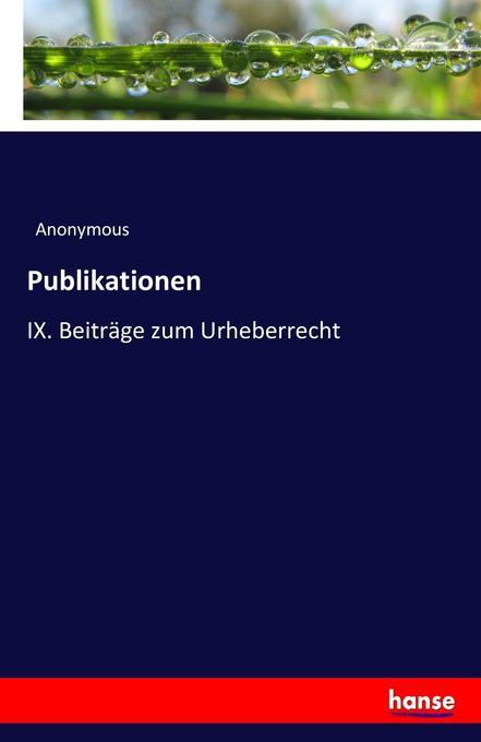 Publikationen als Buch von Anonymous