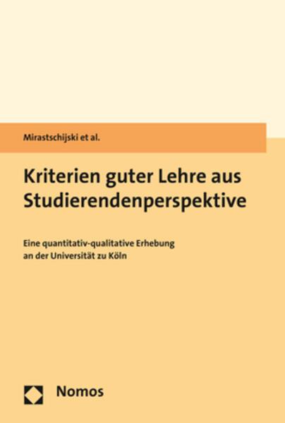 Kriterien guter Lehre aus Studierendenperspektive als Buch (gebunden)