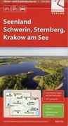 Reise- und Entdeckerkarte Seenland Schwerin, Sternberg, Krakow am See 1:100.000