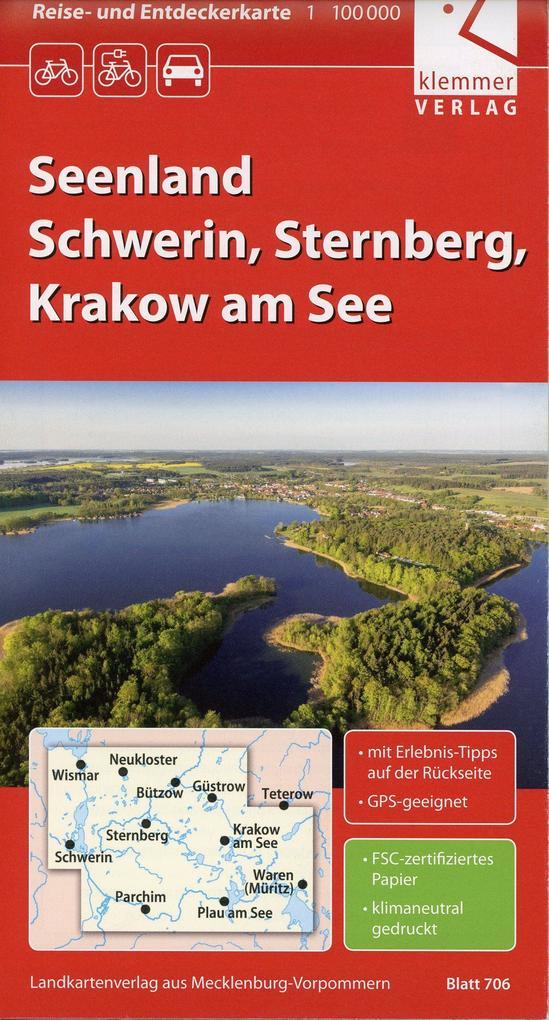 Reise- und Entdeckerkarte Seenland Schwerin, St...