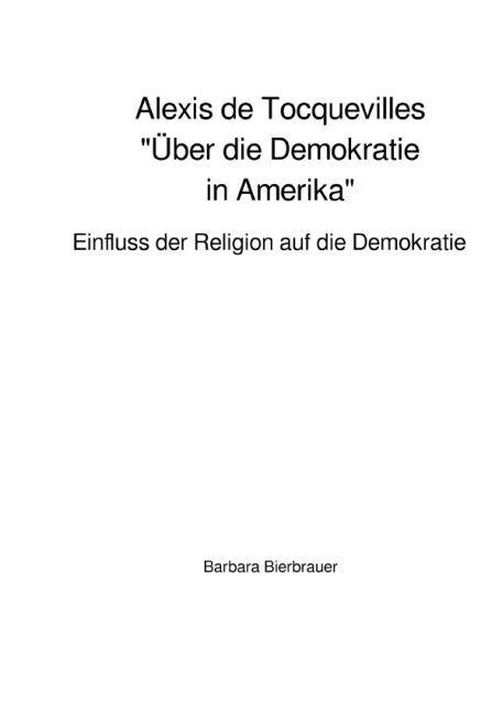 """Alexis de Tocquevilles """"Über die Demokratie in Amerika"""" als Buch"""