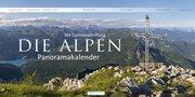 Alpen 2018 mit Gipfelbeschriftung Panoramakalender