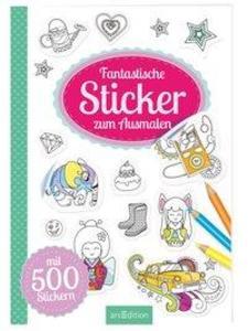 Fantastische Sticker zum Ausmalen als Buch von