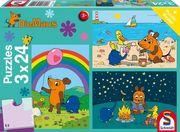 Die Maus: Gute Freunde. 3 x 24 Teile Puzzle