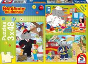 Benjamin Blümchen: Im Einsatz. 3 x 48 Teile Puzzle