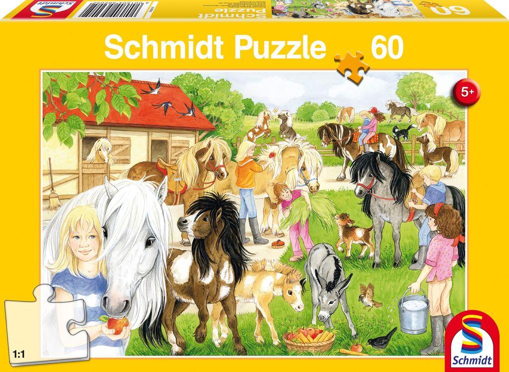 Spaß auf dem Ponyhof, 60 Teile Puzzle