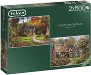 Woodland Cottages - 2x 500 Teile Puzzle