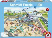 Schmidt Spiele - Puzzle - Ein Tag am Flughafen, 100 Teile