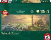 Thomas Kinkade, Leuchtturm-Idylle, Panoramapuzzle. 1000 Teile Puzzle