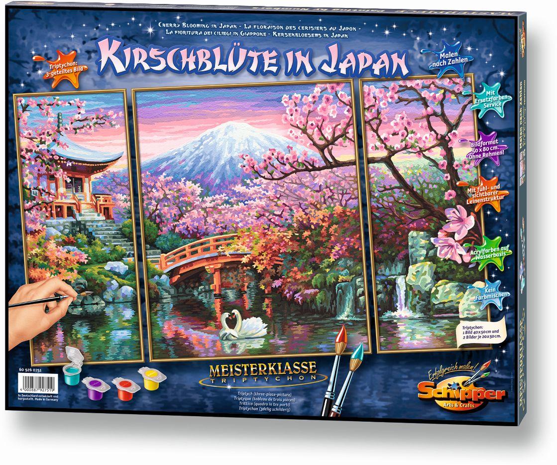 Schipper Malen nach Zahlen - Kirschblüte in Japan (Triptychon ...