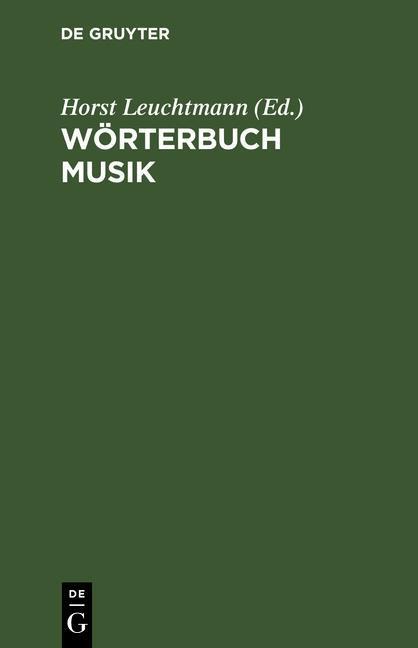 Wörterbuch Musik als eBook Download von