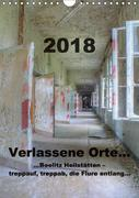 Verlassene Orte...Beelitz Heilstätten - treppauf, treppab, die Flure entlang (Wandkalender 2018 DIN A4 hoch)