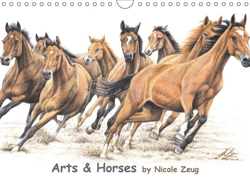 Arts & Horses (Wandkalender 2018 DIN A4 quer) D...