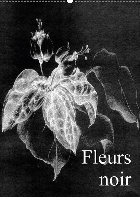 Fleurs noir (Wandkalender 2018 DIN A2 hoch)