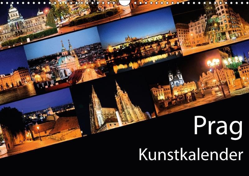 Prag Kunstkalender (Wandkalender 2018 DIN A3 quer)