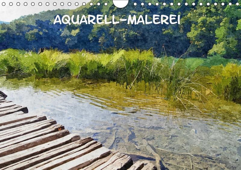 Aquarell-Malerei Kalender (Wandkalender 2018 DI...