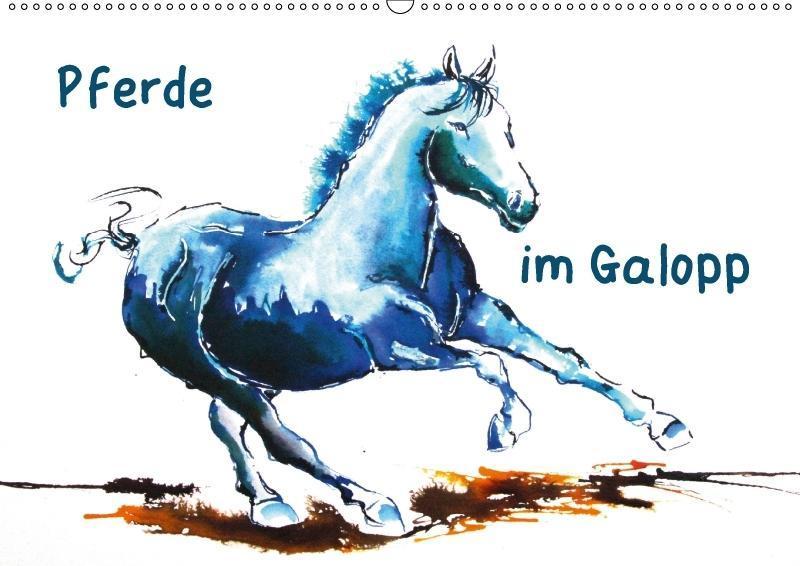 Pferde im Galopp (Wandkalender 2018 DIN A2 quer)