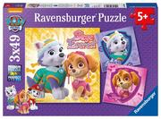 Ravensburger Puzzle - Paw Patrol - Bezaubernde Hundemädchen, 3x49 Teile