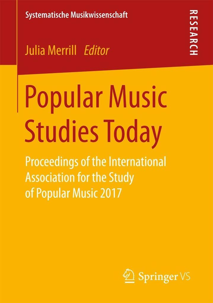Popular Music Studies Today als eBook Download von