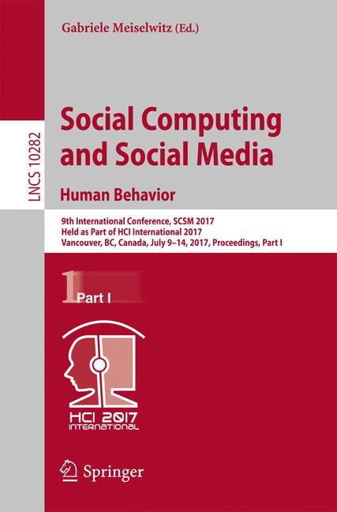 Social Computing and Social Media. Human Behavi...