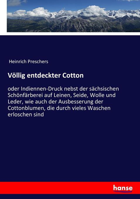 Völlig entdeckter Cotton als Buch von Heinrich ...